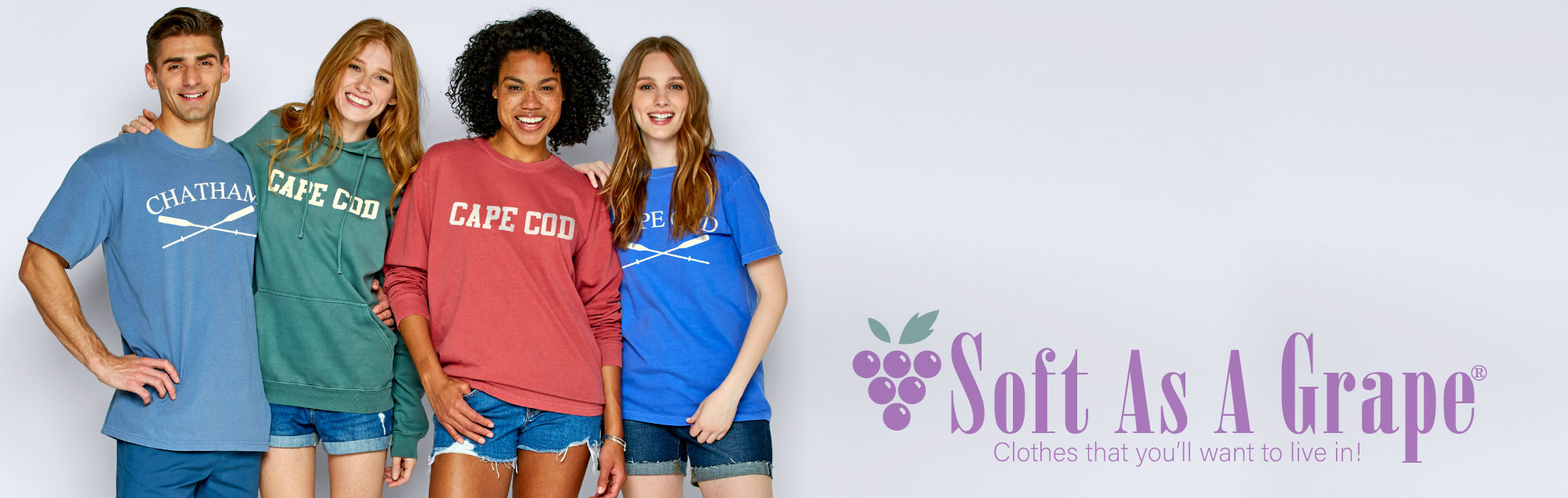 Soft as a Grape home page hero image
